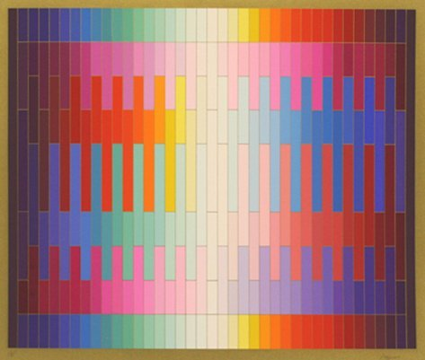 "AGAM, YAACOV ""MAGIC RAINBOW II (ON GOLD)"""