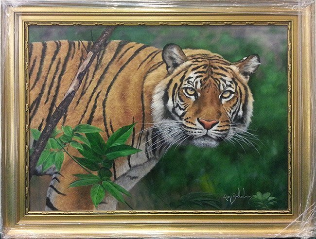 "BALABAN, RON ""TIGER II"" ORIGINAL OIL ON CANVAS"
