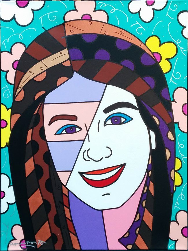 "BRITTO, ROMERO ""KATIE"" ORIGINAL ACRYLIC ON CANVAS"
