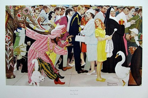 "ROCKWELL, NORMAN ""SATURDAY PEOPLE"""