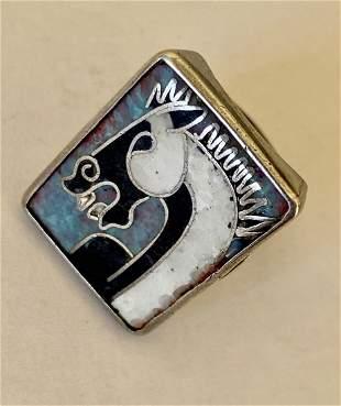 German Enamel Ring Scholtz & Lammel 1950s