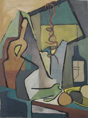 Jerry Opper Oil Abstract Still Life