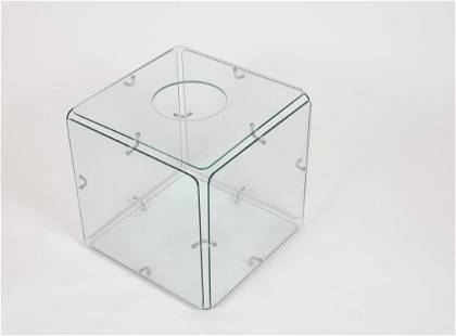 Gerald McCabe Glass Cube Side Table for Eon