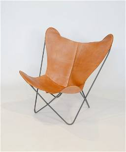Butterfly / Hardoy Lounge in Leather