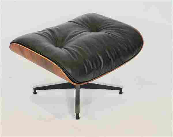 1960s Eames 671 Ottoman in Leather & Rosewood