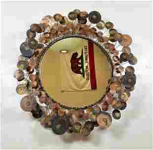 Bronze Colored Jere Raindrops Wall Mirror