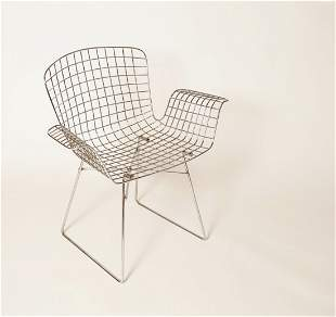 Chromed Wire Framed Armchair French Attribution