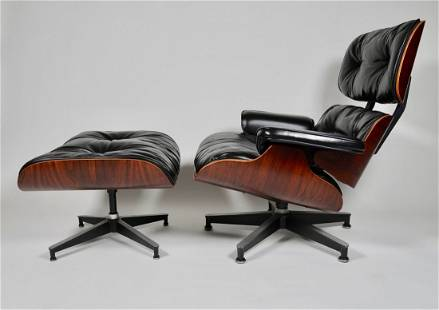 Early Eames Rosewood Lounge & Ottoman