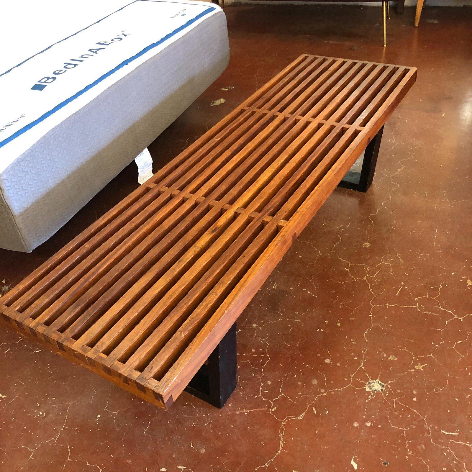 George Nelson Platform Slat Bench