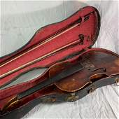Violin and Case with 2 bows.