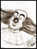 Livingston Bozo the Clown  Original Sketch