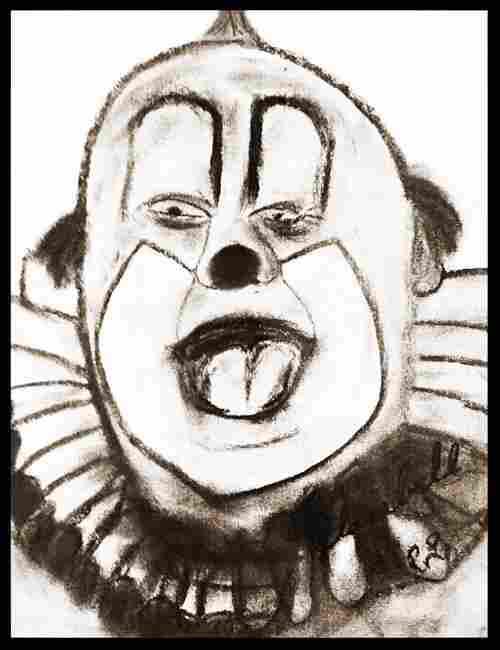 Livingston: Clarabell the Clown - Original Sketch