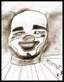 Livingston Homey the Clown  Original Sketch