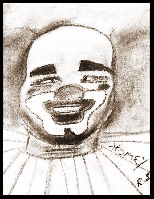 Livingston: Homey the Clown - Original Sketch