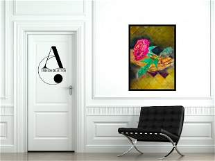 Nipoli: Hand with Red Rose - Original Painting