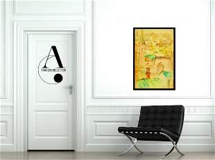 Ray (1927-2011): Paris - Original Gauche Painting