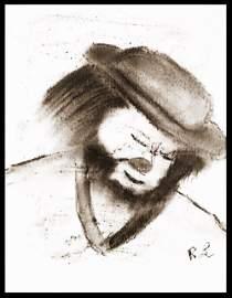Livingstong: Benny Hill the Clown - Original Drawing