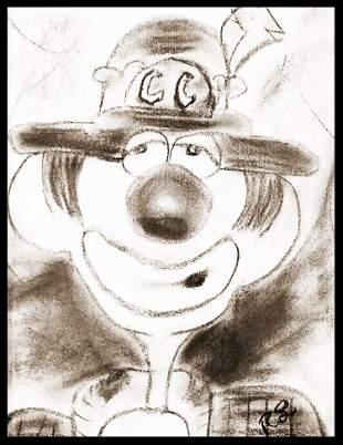 Livingston: Charlie Chalk the Clown - Original Drawing