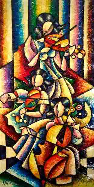 Resh: Colorful Musical Composition #17 - Original