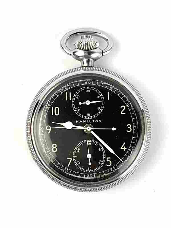 Hamilton Model 23 WWII Chronograph Pocket Watch