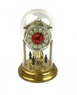 Vintage Drink Coca-Cola Anniversary Coke Mantle Clock
