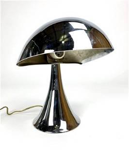 Chrome Helmet Desk Lamp In Manner of Serge Mouille