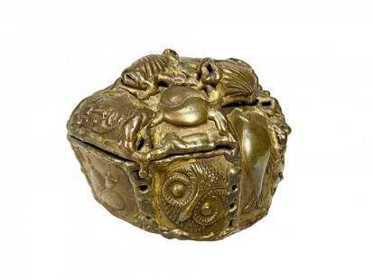 Pal Kepenyes Brutalist Brass Box Sculpture