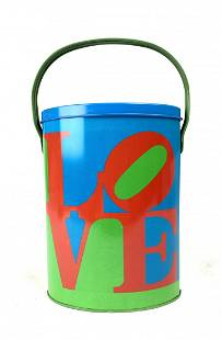 Vintage Robert Indiana Pop Art Love Tin