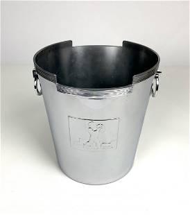 Chase Art Deco Rockwell Kent Chrome Wine Cooler Bucket
