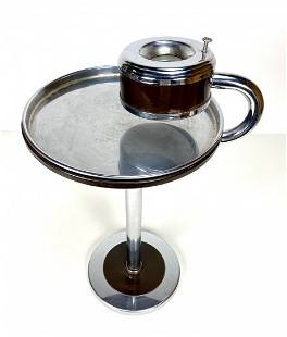 Art Deco Wolfgang Hoffmann by Howell Chrome Ash Stand