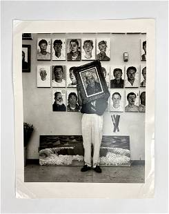 Original Herb Ritts Photograph of David Hockney