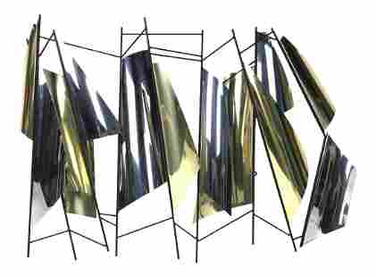 1990s C. Jere Abstract Modern Sails Wall Sculpture