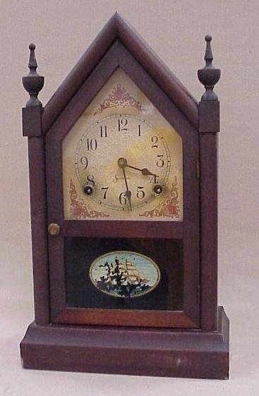 """2: Sessions Cathedral Mantle Clock, 15 ½"""" Tall, 9 ¼"""" W"""