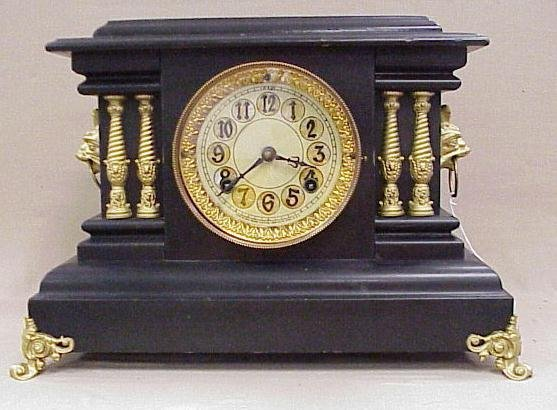 """7: New Haven Mantle Clock, 11"""" Tall, 16"""" W"""