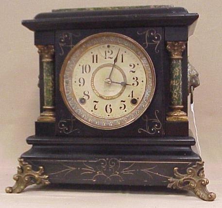 10: Seth Thomas Mantle Clock, Patent Sept 7, 1880