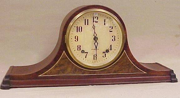 "14: Plymouth Mantle Clock, Napoleon Design 8"" Tall"