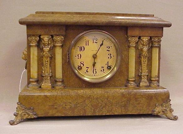 15: Seth Thomas Adamantine Design Mantle Clock