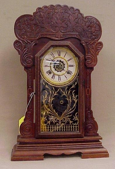 20: Walnut 8-Day, Waterbury Kitchen Clock