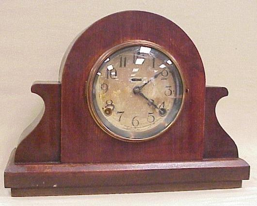 "22: Waterbury Mantle Clock, 10 ¼"" Tall, 14"" Long"