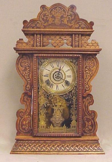 "40: Welch Kitchen Clock w/ Alarm, circa 1890, 25"" Tall,"