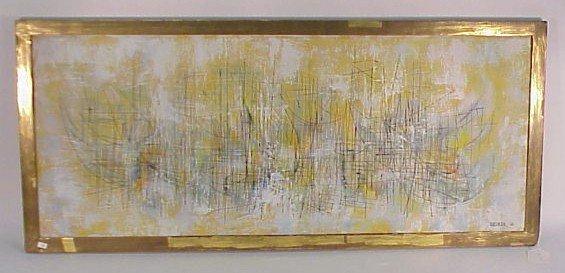 """223: Oil  on Canvas-Leonardo Nierman, """"Barcos Veleros"""""""
