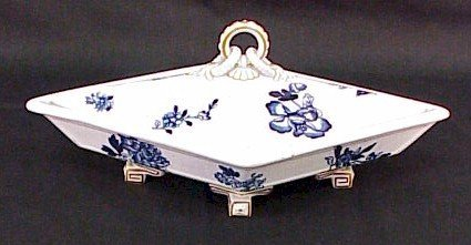 226: Unique Early English Covered Serving Dish-Meakin
