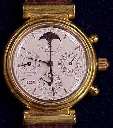 268: IWC Swiss Wrist Watch-Da Vinci-Leather Band