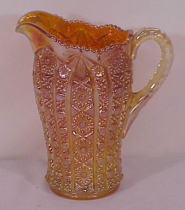306: Carnival Glass Imperial Octagon Water Pitcher