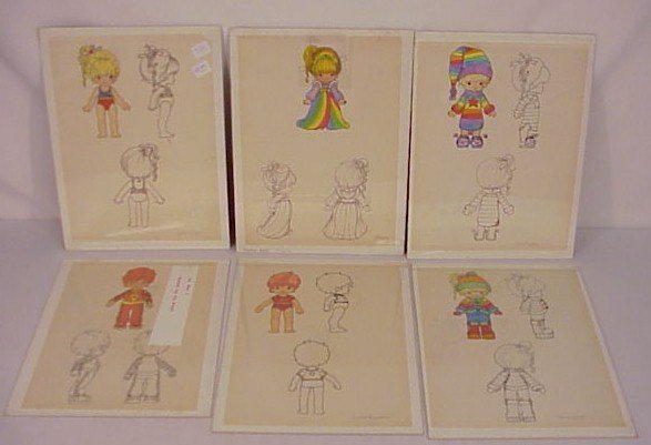 712: Original Art Rainbow Brite Designs