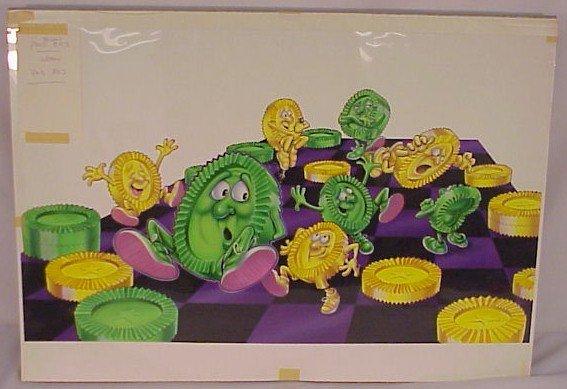 714: Original Art Whimsical Checkers