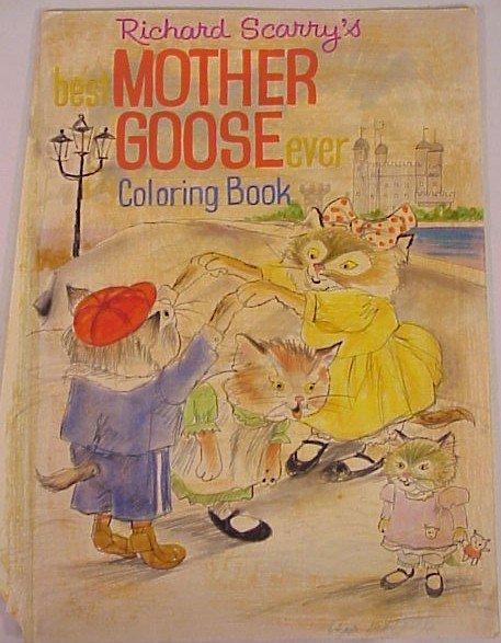 717: Original Art Richard Scarry Mother Goose Cover