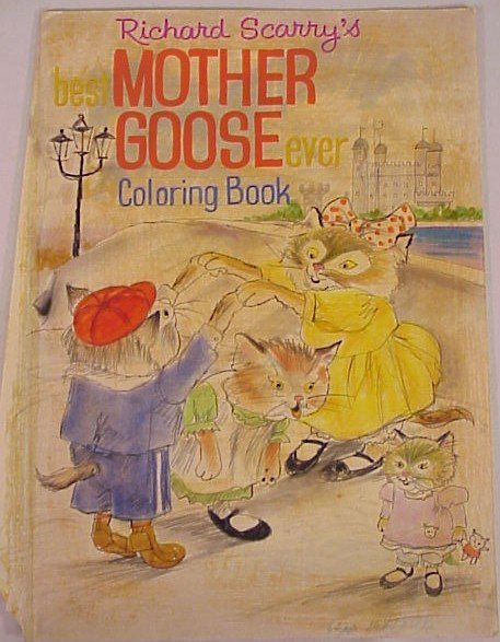 717: Original Art Richard Scarry Mother Goose Cover