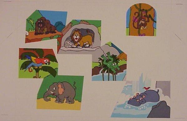 719: Original Illustrations Watercolor Jungle Puzzle