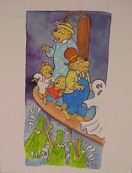 722: Original Watercolor Berenstein Bears